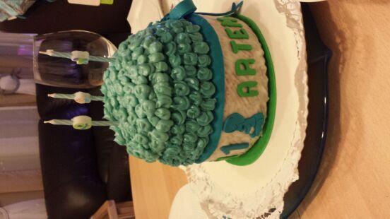 Тортик на первый день рождения