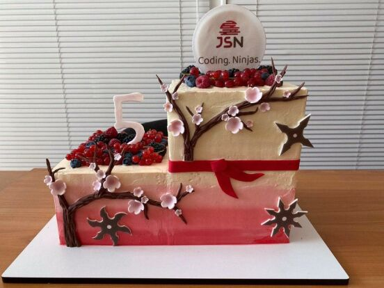 5 уears! The cake for real JS ninjas!