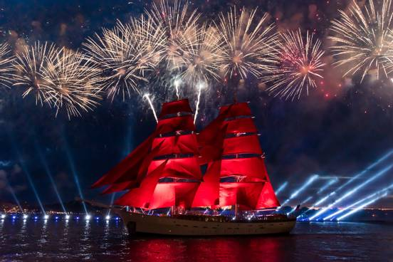 Scarlet Sails (�лые пару�а) in Russia