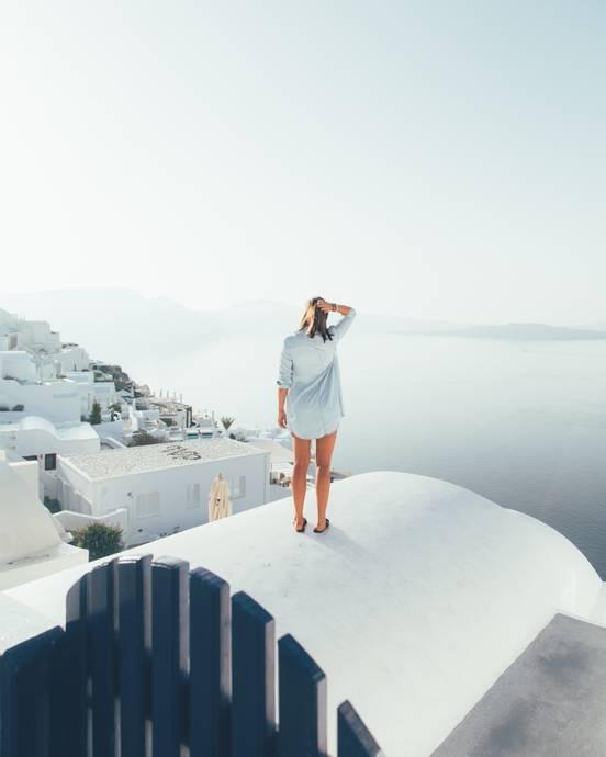 Hallo aus Santorini