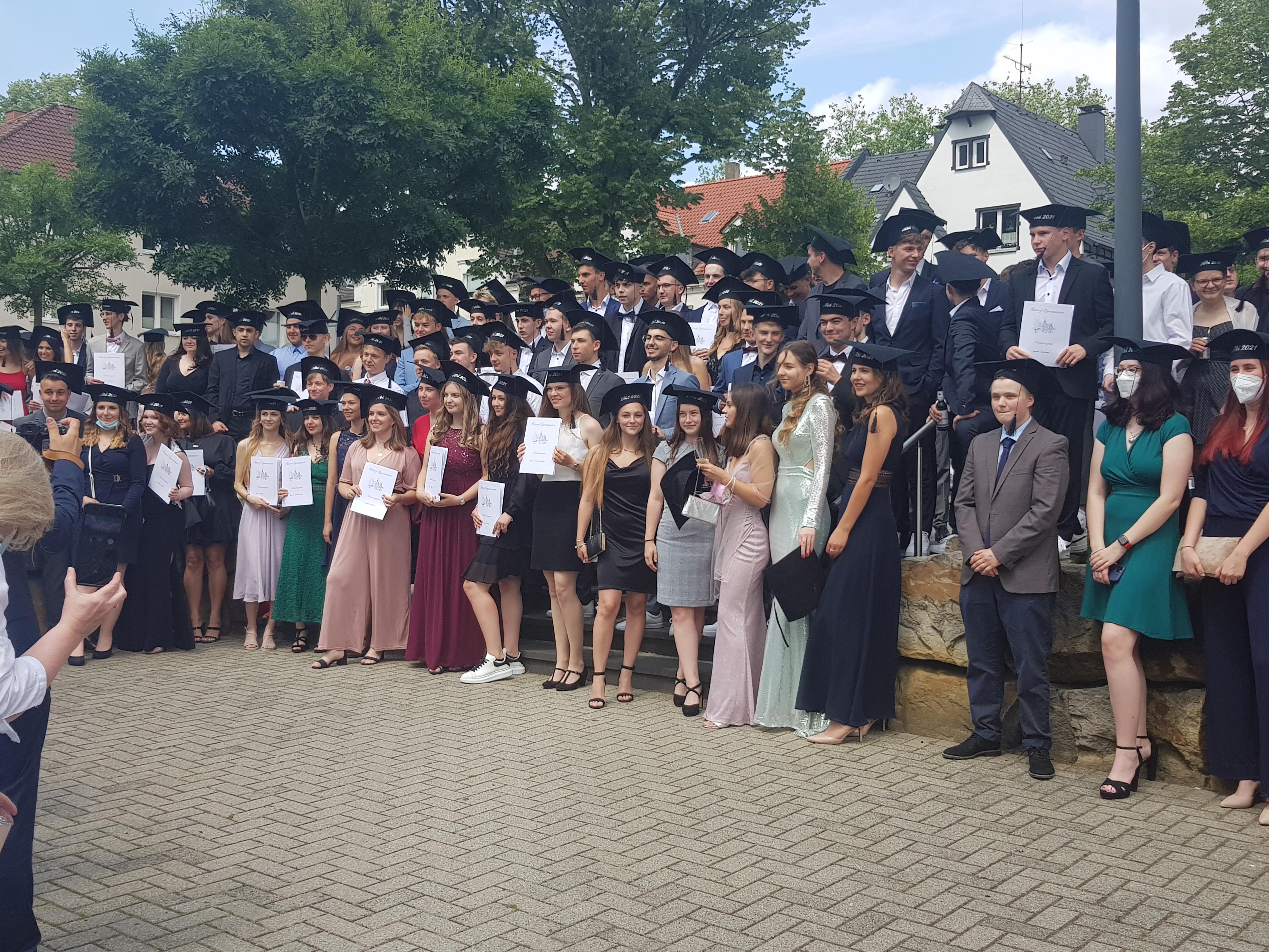 Abiturienten 2021 Hittorf Gymnasium