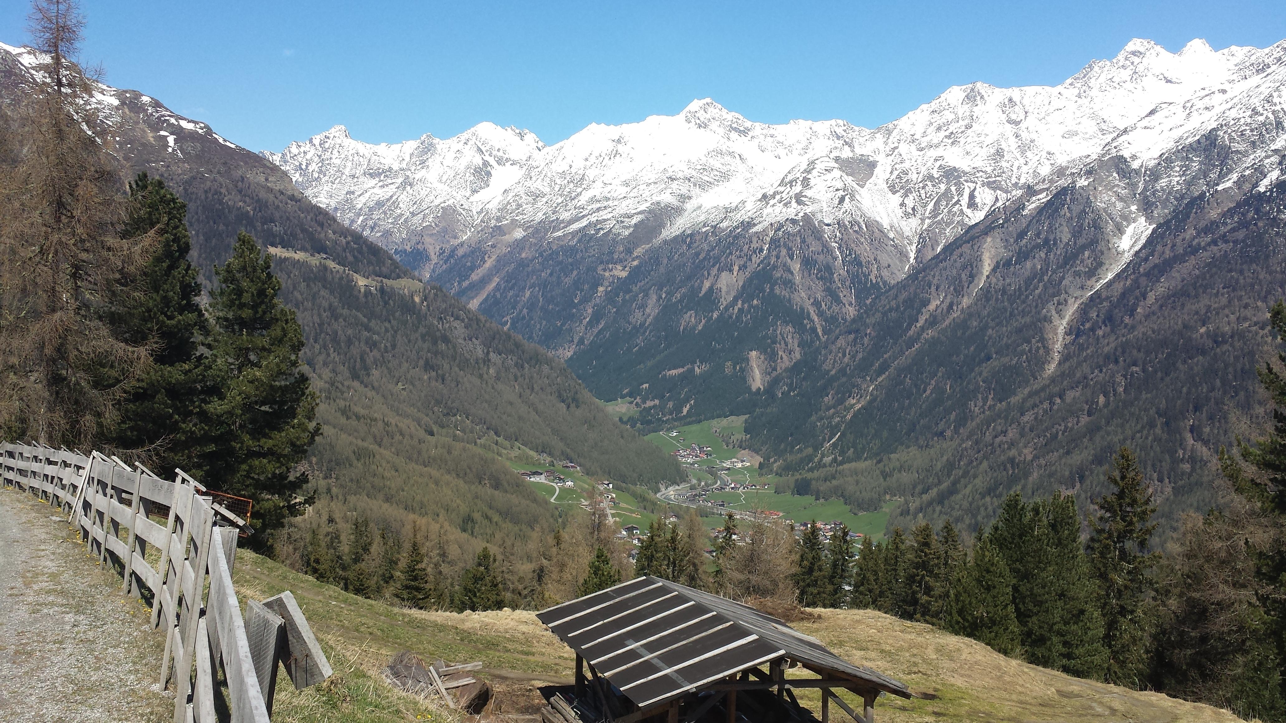 Живописные дороги в Австрийских Альпах, место Зёльден